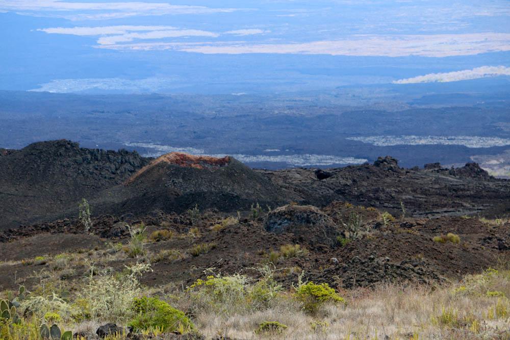 Der Vulkan Chico hat verhältnismässig zum Sierra Negra Vulkan einen kleinen Krater.